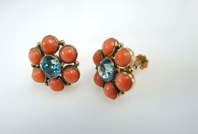Coral Cluster Earrings