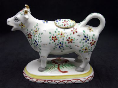 Cow Creamers/Faience Cow Creamer 1 Cynthia Findlay Antiques