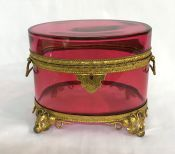 Cranberry Glass French Comfit Box