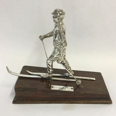 Cross Country Sterling Silver Ski Trophy