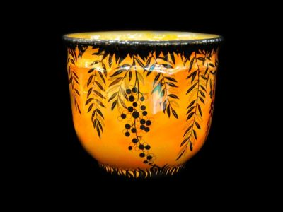 Crown Ducal Orange Lustre Jardiniere  Jar024