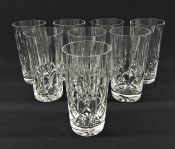Crystal Highball Glasses, Cross & Olive Pattern