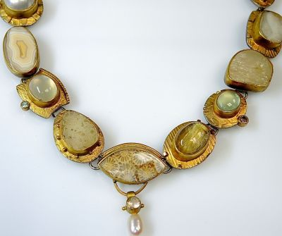 Custom Made Multi Stone Necklace CFA1312223