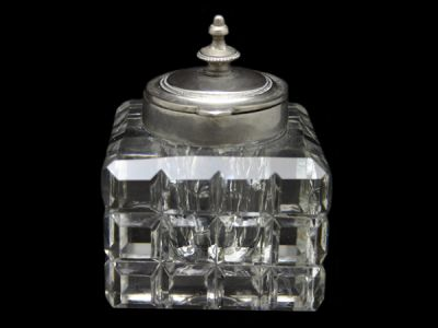 Cut Crystal Inkwell Cynthia Findlay Antiques