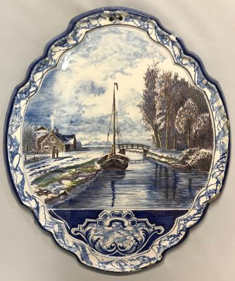 Delft Plaque  19th Century b