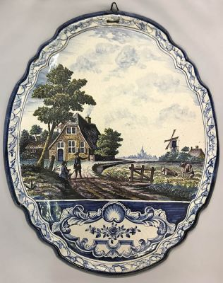 Delft Plaque  19th Century d