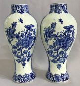 Delft Vases, Unmarked, 19th Century
