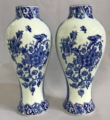 Delft Vases  Unmarked  19th Century b