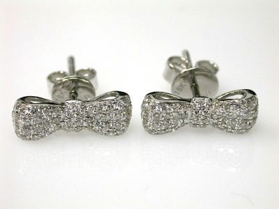 Diamond Bow Earrings CFA1311148
