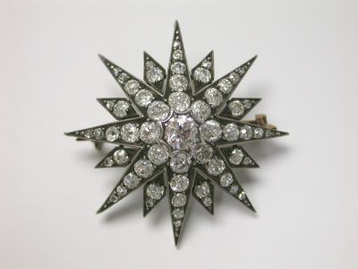 Diamond Starbrust Brooch CFA140227
