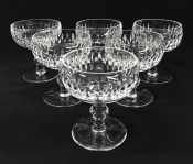 """Discontinued Irish Waterford """"Maureen"""" Crystal Champagne Coupes"""