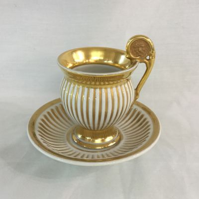 Early K.P.M. Porcelain Cup and Saucer