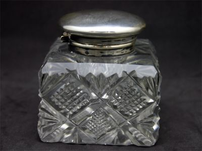 Early Cut Crystal Inkwell 1 Cynthia Findlay Antiques