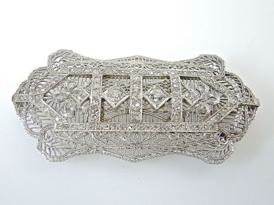 Edwardian Filigree Brooch CFA1401300
