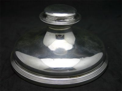 Edwardian Sterling Inkwell 1 Cynthia Findlay Antiques