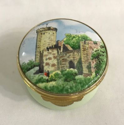 Enamel Box Commemorating Warwick Castle c