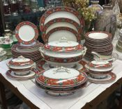 English Ironstone Shakespeare Pattern Dinner Service