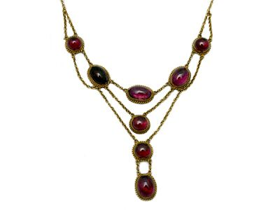Exquisite Victorian Garnet Necklace 1 Cynthia Findlay Antiques
