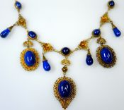 Filigree Lapis Necklace
