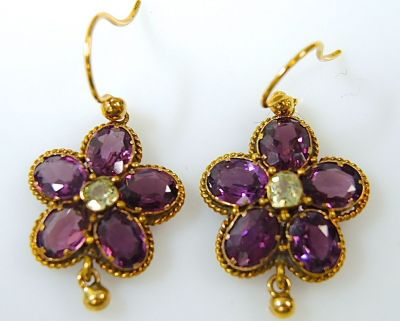 Floral Tourmaline Earrings CFA1312219