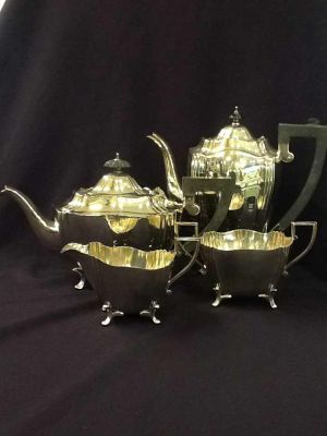 Four Piece Silver-plated Tea Set  2