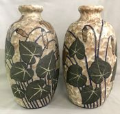 French Art Deco Earthenware Vases by Louis Auguste Dage