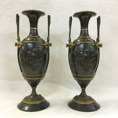 French Bronze Urns-Aesthetic Movement-4