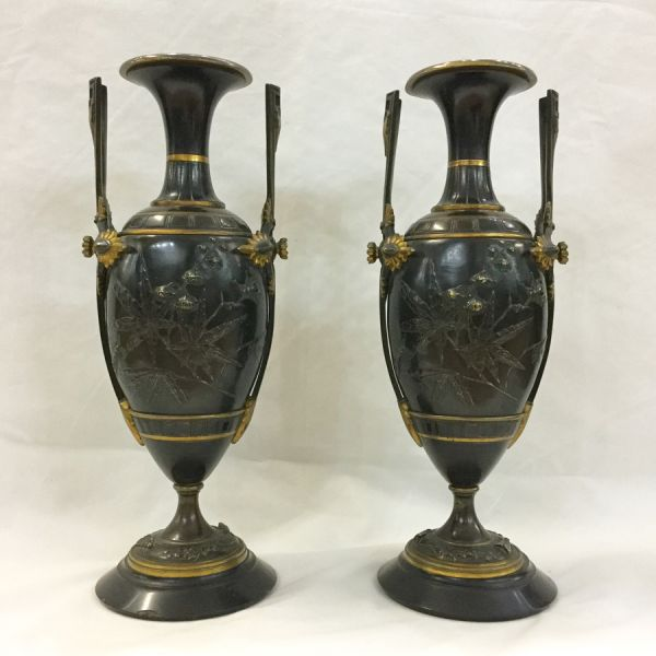 French Bronze Urns-Aesthetic Movement