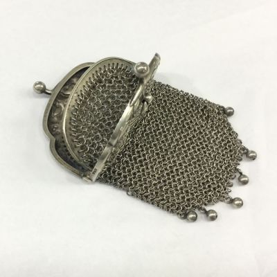 French Victorian Double pocket coin purse