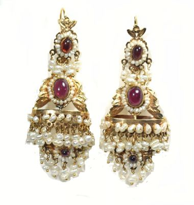 Fresh-Water-Pearl-and-Ruby-Drop-Earrings-CFA1404448-77621a