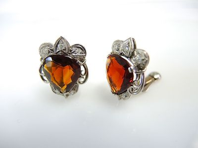 Vintage Garnet Earrings