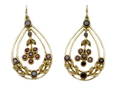 Garnet Jewellery/Fun Vintage Garnet Earrings 1 Cynthia Findlay Antiques