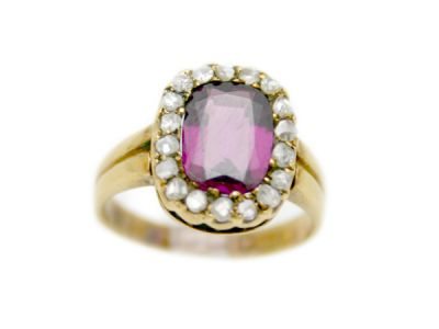 Garnet Jewellery/Victorian Purple Garnet Ring 1 Cynthia Findlay Antiques