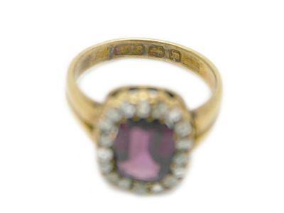 Victorian Purple Garnet Ring