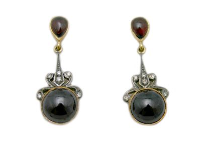 Garnet Jewellery/Wonderful Vintage-Style Garnet Earrings 1 Cynthia Findlay Antiques
