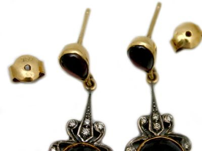 Wonderful Vintage-Style Garnet Earrings