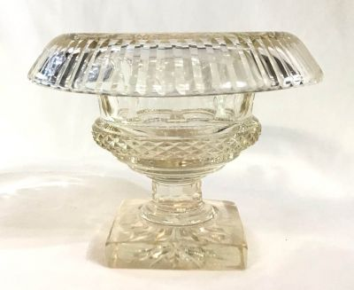 Georgian Anglo-Irish Cut Glass Footed Compote 3