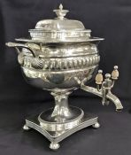 Georgian Sheffield plate tea urn.  English, circa 1810
