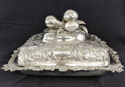 Georgian Sterling Silver Entree Dish   Cover 5