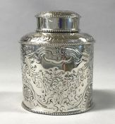 Georgian Sterling Silver Tea Caddy