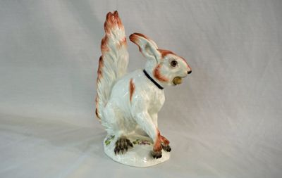 German Porcelain Figure of a Squirrel - 2