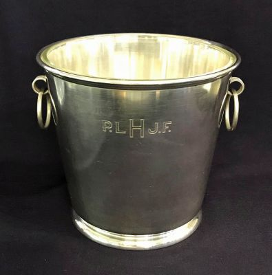 Gorham Sterling Silver Ice Bucket With Glass Liner c
