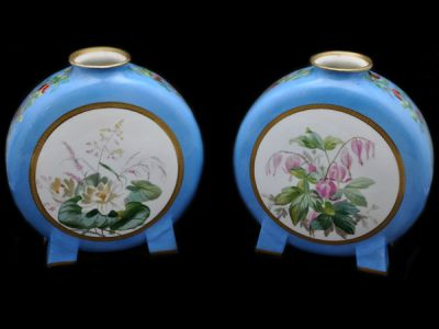 Hand Painted Minton Vases  Mnt001