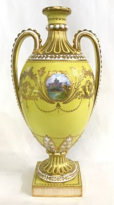 Hand Painted Mintons Cabinet Urn g