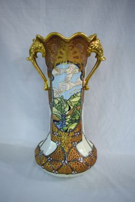 Hand Painted Nippon Gilt Decorated Vase - 2