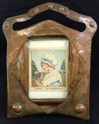 Handwrought Arts & Crafts Copper Photo Frame