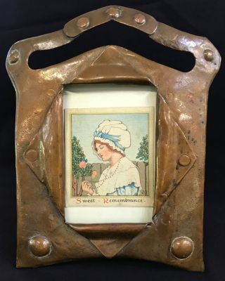 Handwrought Arts   Crafts Copper Photo Frame 3