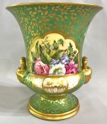 19th Century Campana Shaped Hand Painted Urn