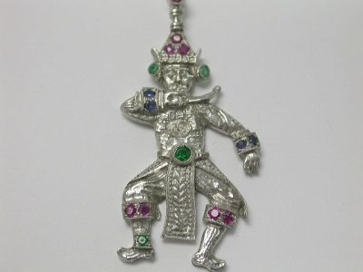 Indonesia Shadow Puppet Pendant CFA140128