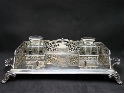 Inkwells 2/Charming Partners Inkwell 1 Cynthia Findlay Antiques